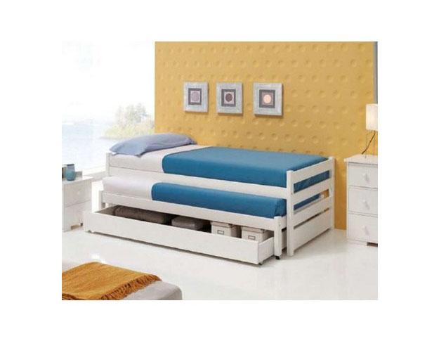Comprar camas de dormitorio baratas online for Cama nido doble con ruedas